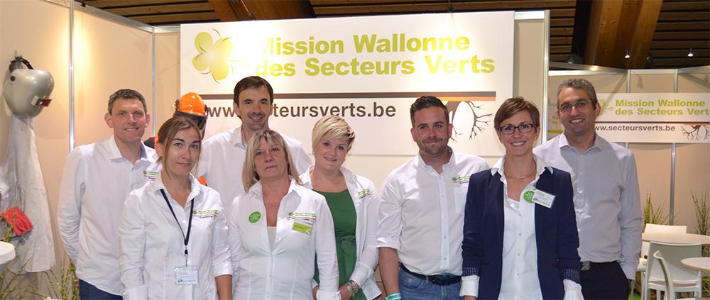 équipe de la Missions Wallonne des Secteurs Verts